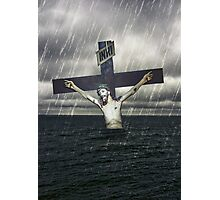Jesus on the Cross at the Sea Print Photographic Print