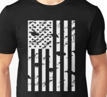 American Flag B&W Unisex T-Shirt