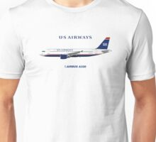 Illustration of US Airways Airbus A320 Unisex T-Shirt