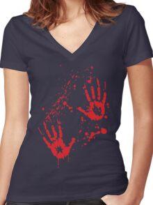 Serial Griller / Killer - Halloween Women's Fitted V-Neck T-Shirt