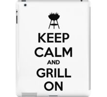 Keep calm and grill on iPad Case/Skin