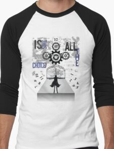 World Line Convergence - Stein;s Gate  Men's Baseball ¾ T-Shirt