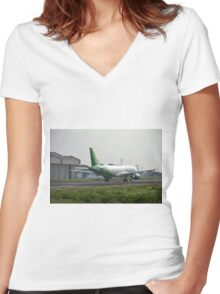 Citilink airplane Women's Fitted V-Neck T-Shirt