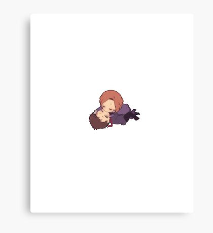 Chibi Mulder and Scully Canvas Print