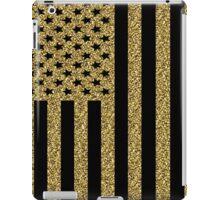 Gold Glitter USA Flag iPad Case/Skin
