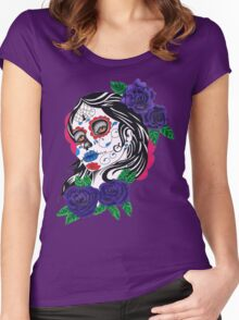day of the dead girl Women's Fitted Scoop T-Shirt