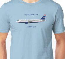 Illustration of US Airways Airbus A320 - Blue Version Unisex T-Shirt