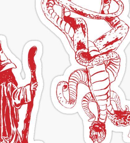 The Upside Down Demogorgon - Stranger Things Have Happened Sticker