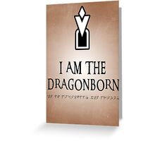 DRAGONBORN Skyrim Greeting Card