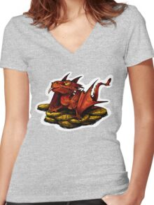 Little Smaug Women's Fitted V-Neck T-Shirt