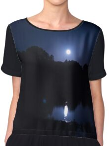 Dark Blue Night Chiffon Top