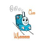Choo Wooo - pillow & tote by Dennis Melling