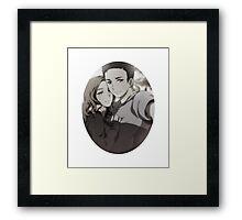 Mulder Scully Selfie Framed Print