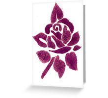 Night shade - Dark Pink Greeting Card