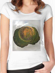 Glenagivney Beach, Inishowen, Donegal Women's Fitted Scoop T-Shirt