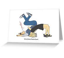 When Gillian Tweets David Greeting Card