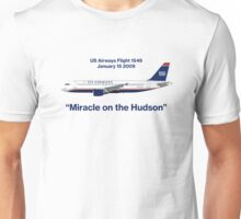 Miracle on the Hudson - US Airways A320 Unisex T-Shirt