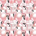 Pink Flamingo Pattern by Vicky Webb