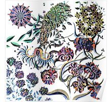 Flowers from the wild garden Poster