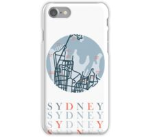 City of Sydney Map Poster iPhone Case/Skin