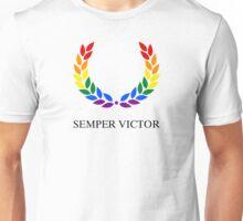 Laurel Wreath - Semper Victor LGBT Unisex T-Shirt