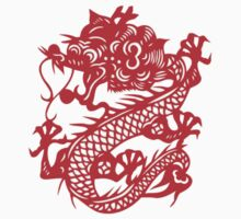 Red Chinese Dragon Kids Clothes