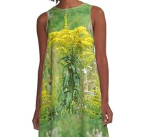 The yellow bloom . A-Line Dress