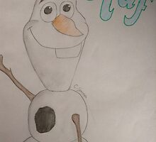 Drawing of olaf by Chloegreen55