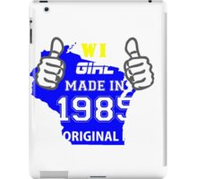 This Wisconsin Girl Made in 1985 iPad Case/Skin
