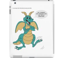 Quit Dragon Your Feet! iPad Case/Skin