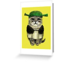 My owner is an IDIOT Greeting Card