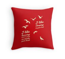 I HATE SEAGULLS Throw Pillow