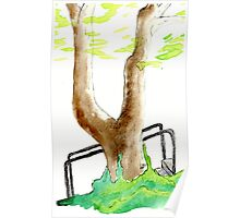 Watercolor Tree Poster
