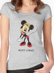 Minnie Cyrus (Miley Cyrus and Minnie Mouse Parody Mix) Women's Fitted Scoop T-Shirt