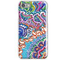 Rainbow Flame Doodle iPhone Case/Skin
