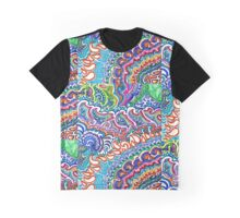 Rainbow Flame Doodle Graphic T-Shirt