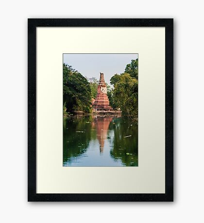 Historic City Ayuthaya Framed Print