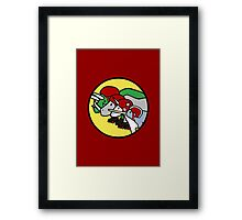Horned Warrior Friends ROLLER DERBY (Unicorn, Narwhal, Rhino, Triceratops) Framed Print