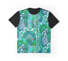 Green Sun Doodle Graphic T-Shirt