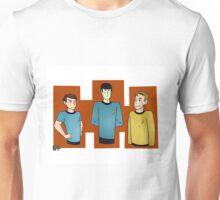 Spock Jim and Bones adventures Unisex T-Shirt