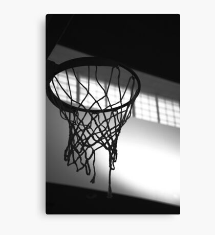 Basketball Hoop Silhouette  Canvas Print