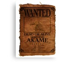 Akame - Wanted Dead or Alive Canvas Print