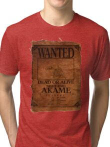 Akame - Wanted Dead or Alive Tri-blend T-Shirt