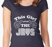 This Girl Loves the Jays Women's Fitted Scoop T-Shirt
