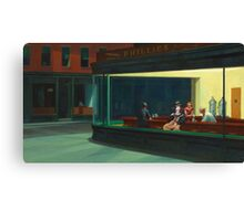 Pennywise in Hopper's Nighthawks Canvas Print