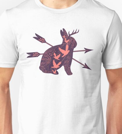 Jackalope (purple) Unisex T-Shirt