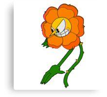 Cuphead Flower Canvas Print