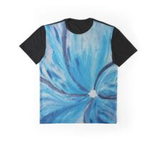 Blue Bloom Graphic T-Shirt