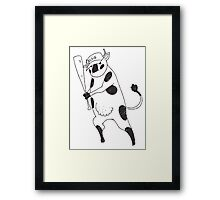 Holy Cow - Elsie baseball Framed Print