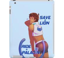 Save a Lion - Blue iPad Case/Skin